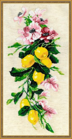 Набор для вышивания бисером Золотые ручки «Лимоны» МК-023