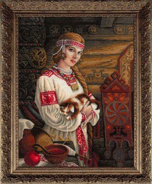 Купить набор для вышивания крестом Золотые ручки «Хозяюшка» ЗХ-028