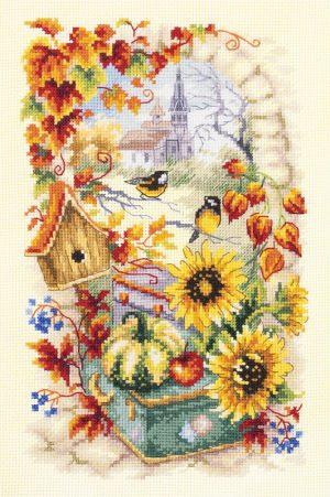 Купить набор для вышивания крестом Чудесная Игла «Яркая осень» 110-950
