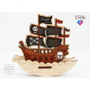 Купить набор для вышивания крестом Фрузелок «Пиратский корабль» 1506