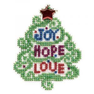 Купить набор для вышивания бисером MILL HILL «Радость, надежда, любовь» MH182133