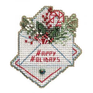 Купить набор для вышивания бисером MILL HILL «Новогодние пожелания» MH182132