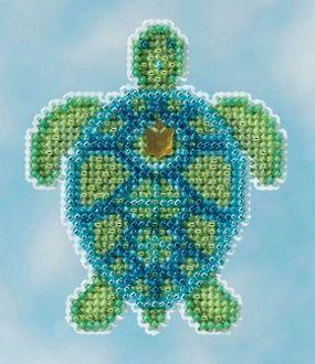 Купить набор для вышивания бисером MILL HILL «Морская черепаха» MH181611