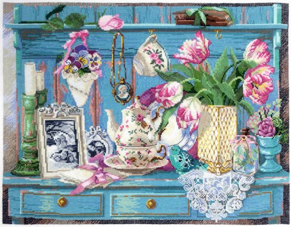 Купить набор для вышивания крестом Марья Искусница «Цветочный уголок» 11.004.15