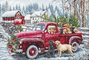 Купить набор для вышивания крестом Letistitch «Рождественская доставка» L8014