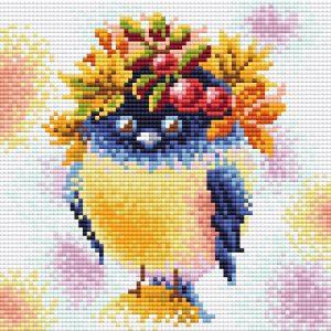 Купить алмазная мозаика BrilliArt «Осенняя пташка.Стразы» МС-091